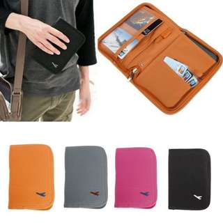 Multi Functional Zipped Passport Wallet Case