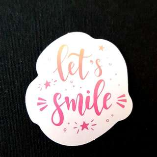 C11 Let's Smile Calligraphy Sticker Stickers