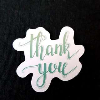 C11 Thank You Calligraphy Sticker Stickers