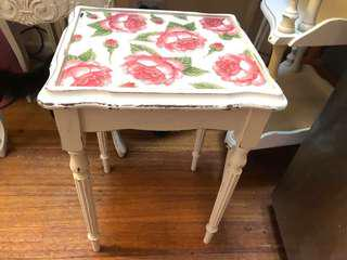 Shabby Chic Rose Side Table