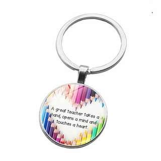 Teachers day gift metal keychains