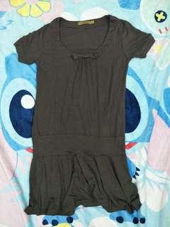 MICKAA Brown blouse dress