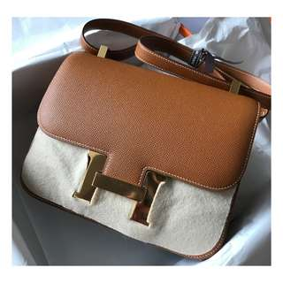 Authentic Hermes Constance 24 Gold Epsom Ghw