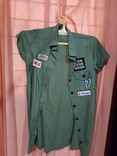 Dress army hijau
