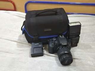 Canon 600D with 18-55 mm IS II len.
