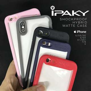 IPaky Shockproof Hybrid Matte Case for iPhone 5 5s SE 6 6s 6+ 6s Plus 7 8 X