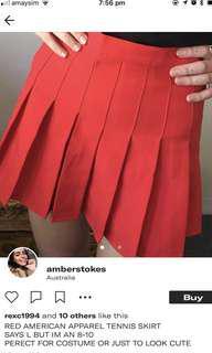 Red American Apparel Skirt