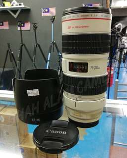 CANON EF 70-200MM F2.8 L IS USM LENS.