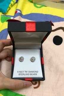 Brand new diamonds 美國小鑽耳環
