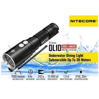 {MPower} Nitecore DL10 美國名廠 CREE XP-L HI V3 1000 流明 LED Diving Flashlight 潛水 電筒 - 原裝正貨