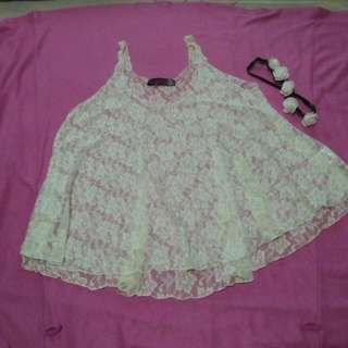 CLEARANCE SALE! Laced Loose Top