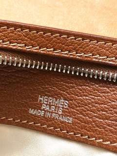 Hermes leather pouch