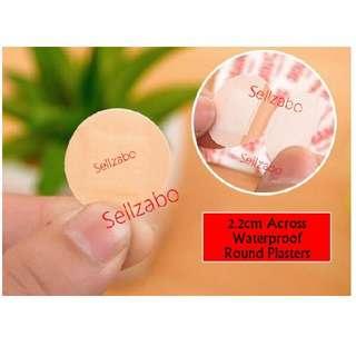 5 Pcs Small Round Plasters First Aid Sellzabo Bandage Wound Blood Injection Cuts Circle Spots Bleeding