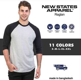 New States Apparel Premium Raglan
