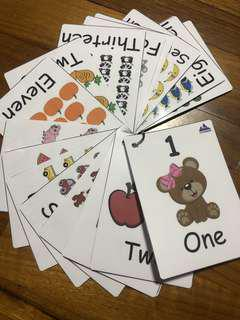 Kids Numbers Flash Cards