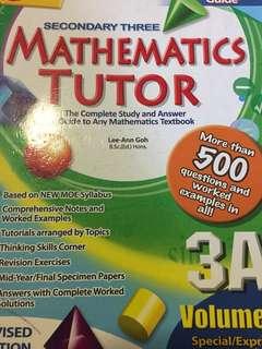 sec 3 CASCO 3A mathematics book
