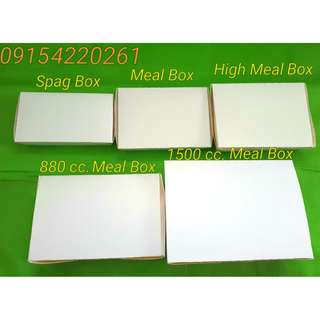 Meal Box-Food Box Plain or with One Color Print
