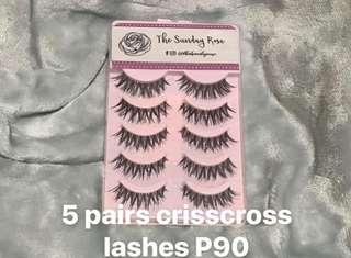5 pairs crisscross lashes