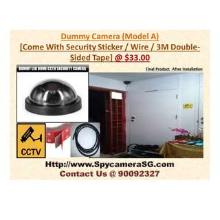 Dummy Camera With Security Sticker