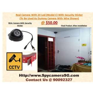 Dummy Camera Use Real Camera With Security Sticker