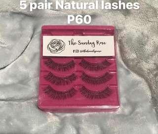 5 pair natural lashes