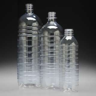 Plastic PET Bottles Plain or with One Color Print