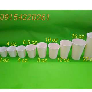 Paper Cups Plain or with One Color Print