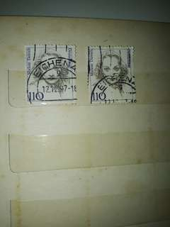 Stamp of famous figure - Marlene Dietrich