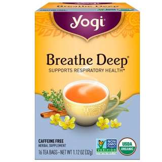 Yogi Tea, Organic, Breathe Deep, Caffeine Free, 16 Tea Bags, 1.12 oz (32 g)