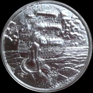🚚 2 oz Privateer Collection | Siren Ultra High Relief Silver Round