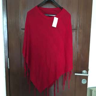 New!! Blouse red knit