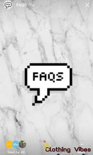 FAQS | INFO | INSTAGRAM: @clothingvibes.ph