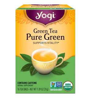 Yogi Tea, Pure Green, Green Tea, 16 Tea Bags, 1.09 oz (31 g)