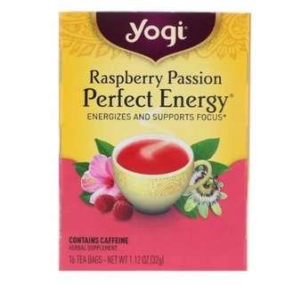 Yogi Tea, Raspberry Passion, Perfect Energy, 16 Tea Bags, 1.12 oz (32 g)
