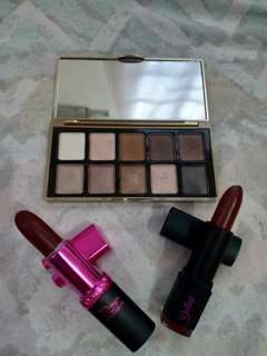 Bundle 1: Loreal Rouge Magique in The Fort, Detail Cosmetics Simply Matte in Muddy, and Jasmine La Belle Eyeshadow Palette