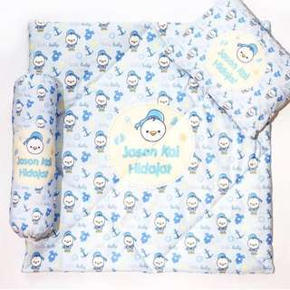 CUSTOM BABY HOODIE SET donald duck blue