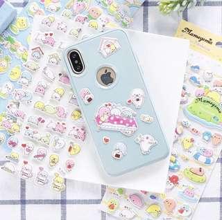 San x Mamegoma puffy Stickers