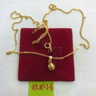 NECKLACES 18K SAUDI GOLD