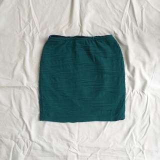 Green Fitted Bodycon Skirt