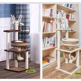 [Flash-Deal] quality rattan cat tree cat tower cat toys cat climber rattan mat scratching posts Kitten toys