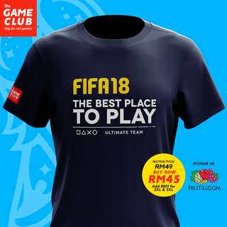 PS4 Fifa18 T-shirt by Game Club Malaysia