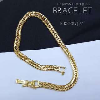 K18 Japan Gold Men's Bracelet