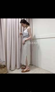🚚 (僅試穿,可議)皮質低跟方頭鞋 轉賣ribbon.miho