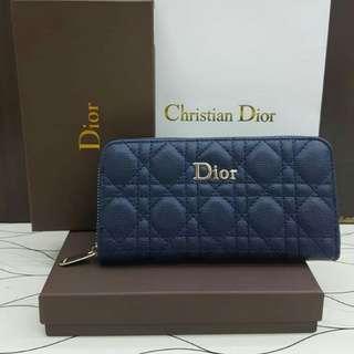 Lady Dior Wallet Navy Blue