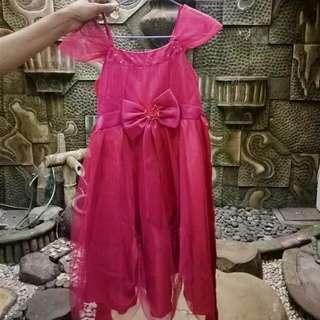 Dress Pesta Anak | Pink Girl Party Dress