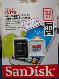 🚚 Sandisk 32g ultra micro SDHC 公司貨全新未拆