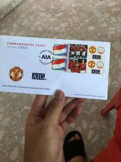 Manchester United AIG Commemorative Cover