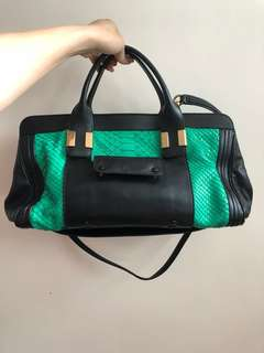 Chloe python leather bag