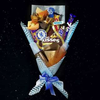 Chelsea Themed Chocolate Bouquet