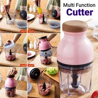 JANOSENO Capsule Cutter Quatre  -  Mini 2.5 Cup Multipurpose Electric Food Processor , Meat Grinder ,Vegetable Chopper , Fruit Blender and Mincer -
